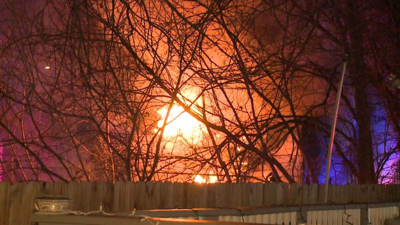 Abandoned East Side home destroyed by flames, fire officials say