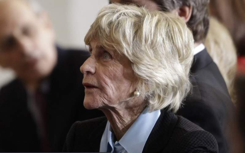 In this Jan. 20, 2011 file photo, Jean Kennedy Smith attends a ceremony marking the 50th anniversary of President John F. Kennedy's inaugural speech on Capitol Hill in Washington. Jean Kennedy Smith, the youngest sister and last surviving sibling of President John F. Kennedy, died at 92, her daughter confirmed to The New York Times, Wednesday, June 17, 2020. (AP Photo/Charles Dharapak)
