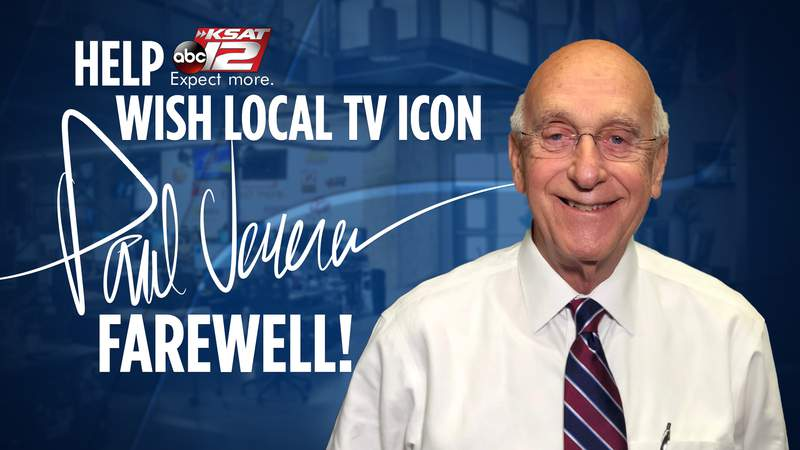 Help us wish KSAT veteran reporter Paul Venema farewell by leaving your note in the comments.