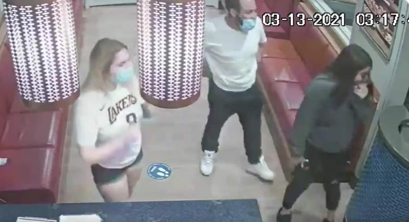 SAPD homicide detectives are asking for the public's help in identifying the man and two women seen in this surveillance footage. They are accused in a fatal shooting at an IHOP at Loop 410 and Marbach Road, police say.
