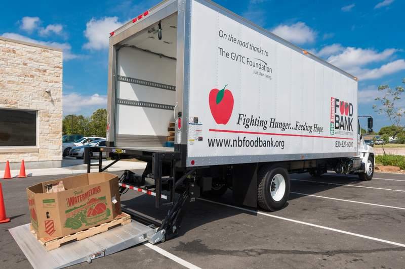New Braunfels Food Bank truck Courtesy: New Braunfels Food Bank