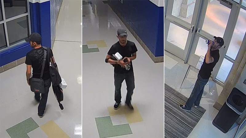 Somerset ISD is asking for the public's help in identifying a person accused of burglarizing Savannah Heights Intermediate School on Monday, Aug. 30, 2021.