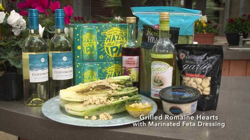 H-E-B Backyard Kitchen: Grilled Romaine Hearts with Marinated Feta Dressing | SA Live | KSAT 12