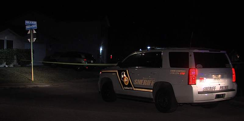 A pregnant 17-year-old is hospitalized after Bexar County sheriff's deputies said she was shot in the back during an overnight drive-by shooting.