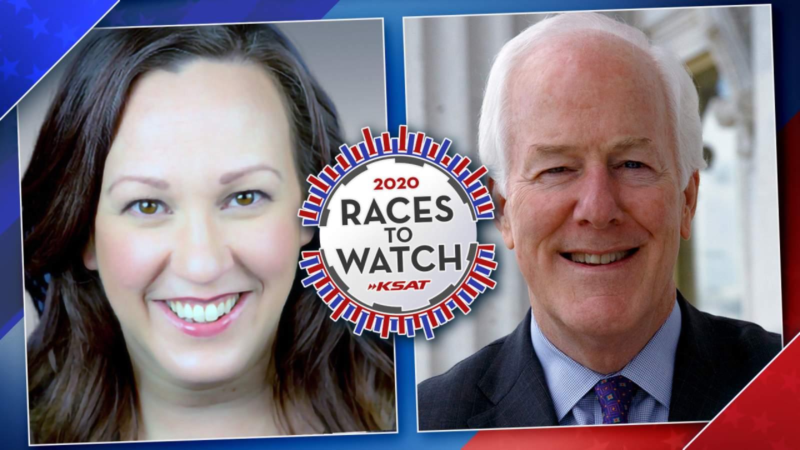 Where do Republican incumbent Sen. John Cornyn and Democratic candidate MJ Hegar stand on the big issues?