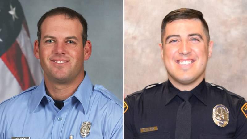 Paramedic Eric Hill and Officer Nicholas Reyna. (Credit: CNN)