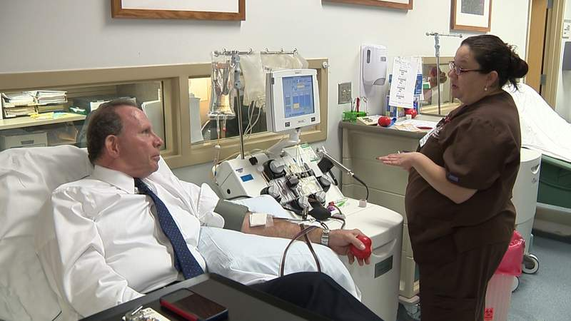 Donor celebrates 25 years of giving blood