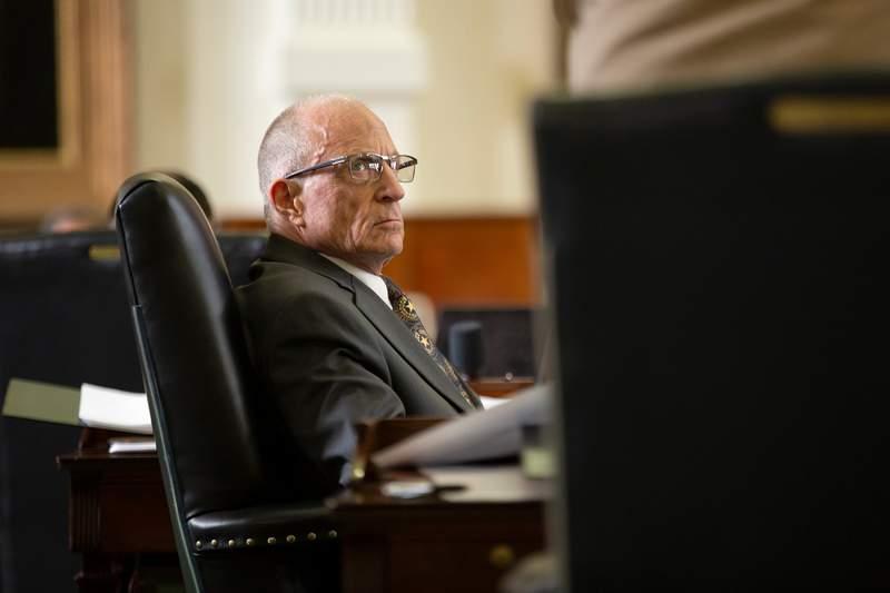 State Sen. Bob Hall, R-Edgewood, on the Senate floor on May 6, 2019.