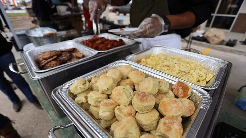 File photo from a previous year's event. Frost to host several chuck wagon breakfast and lunch events in February.