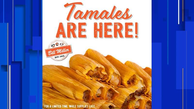Bill Miller Bar-B-Q began selling tamales on Aug. 20, 2020.