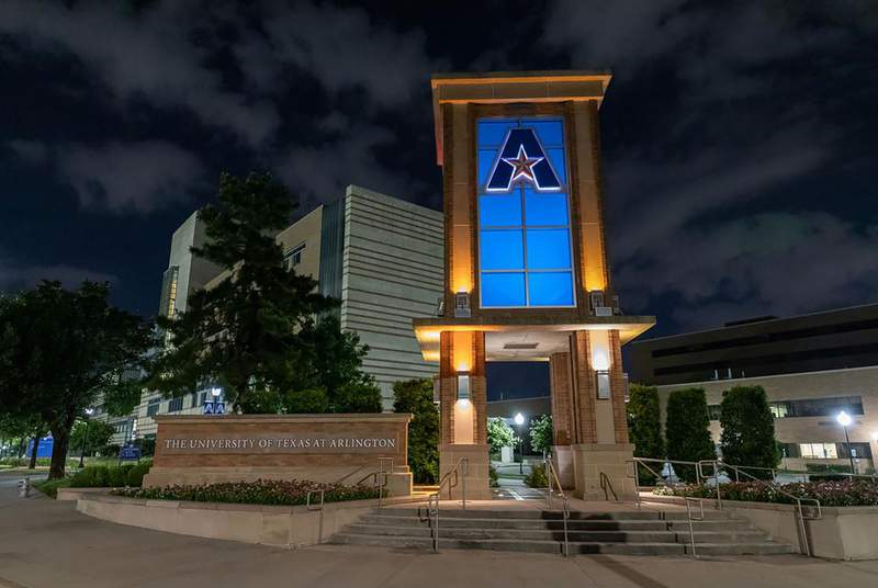 The campus of the University of Texas at Arlington.