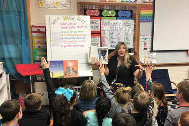 Karen Sams, a 2020 Teacher of the Year, is struggling to adapt to virtual learning with schools closed because of the coronavirus.      Courtesy of Adelynne Davis