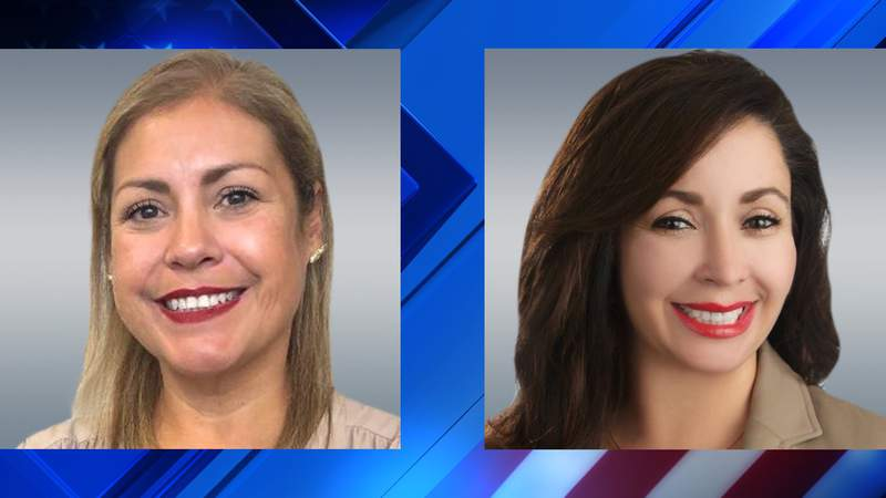 """Jennifer Ramos and Elizabeth """"Liz""""  Campos, candidates for State Representative., District 119 (Democrat), in the July runoff election."""