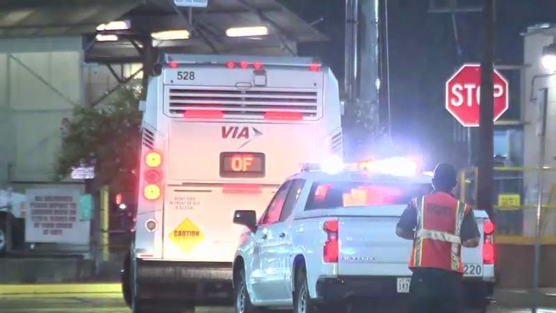 VIA employee struck by bus at maintenance facility near downtown, SAPD says