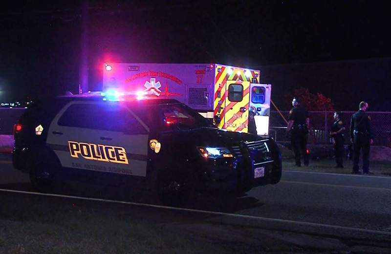 A man is hospitalized and in serious condition after he was struck by another vehicle while on his motorcycle, according to San Antonio police.