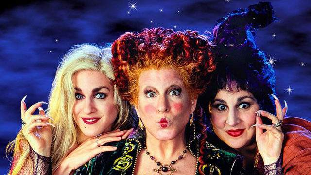 Sarah Jessica Parker, Bette Midler and Kathy Najimy star as the Sanderson sisters in 'Hocus Pocus.' (Image credit: Disney)