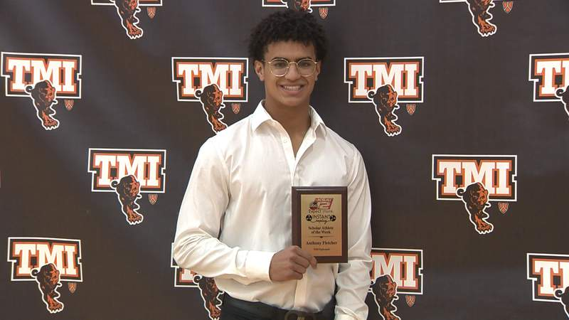 Anthony Fletcher of T.M.I. Episcopal is selected as Instant Replay's Scholar Athlete of the Week for Sunday, May 23, 2021.