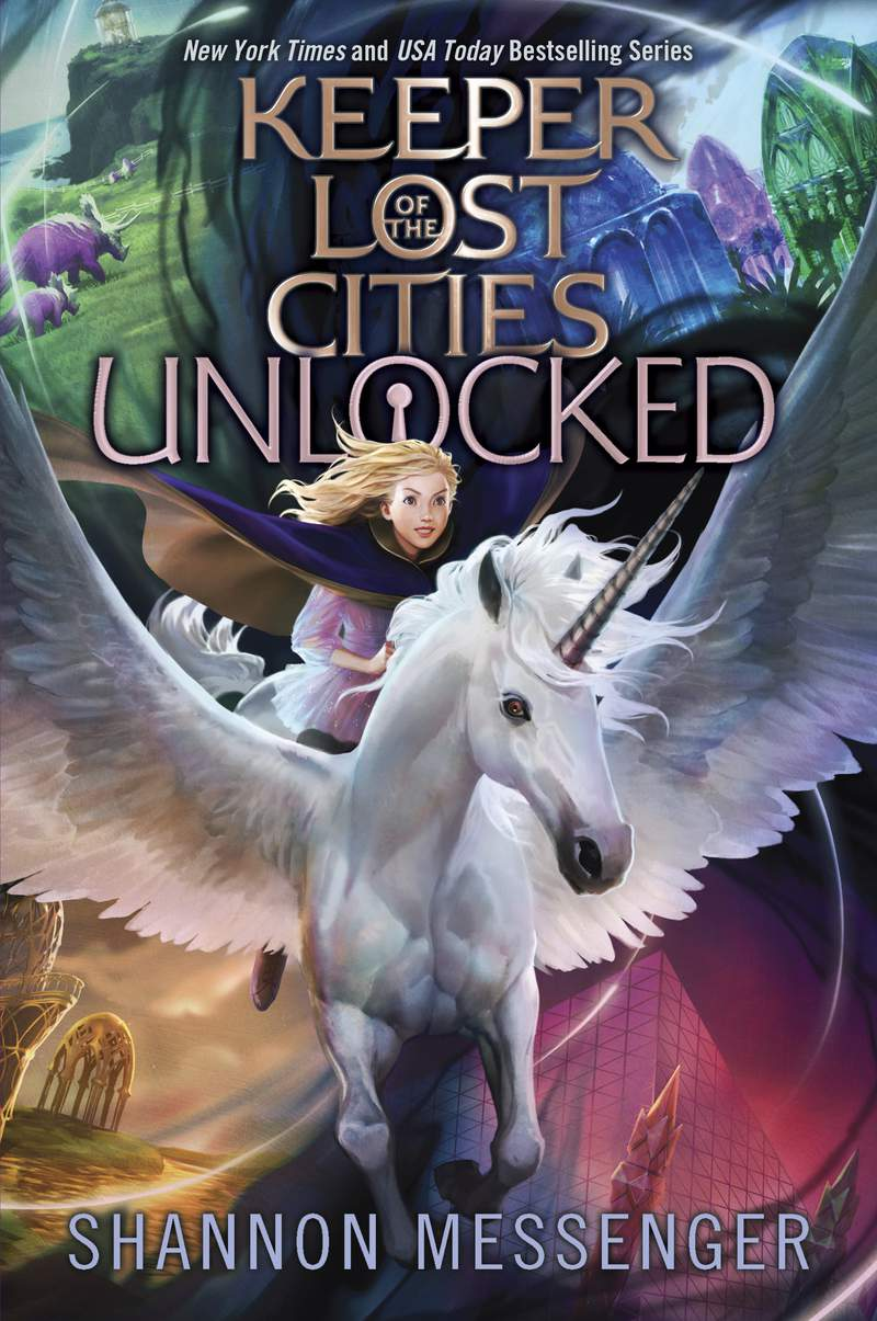 """This image released by Simon & Schuster Childrens Publishing shows """"Unlocked"""" a book in the """"Keeper of the Lost Cities"""" series by Shannon Messenger. (Simon & Schuster Childrens Publishing  via AP)"""