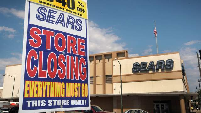 A closing Sears store in the Galewood neighborhood of Chicago on July 7, 2017.
