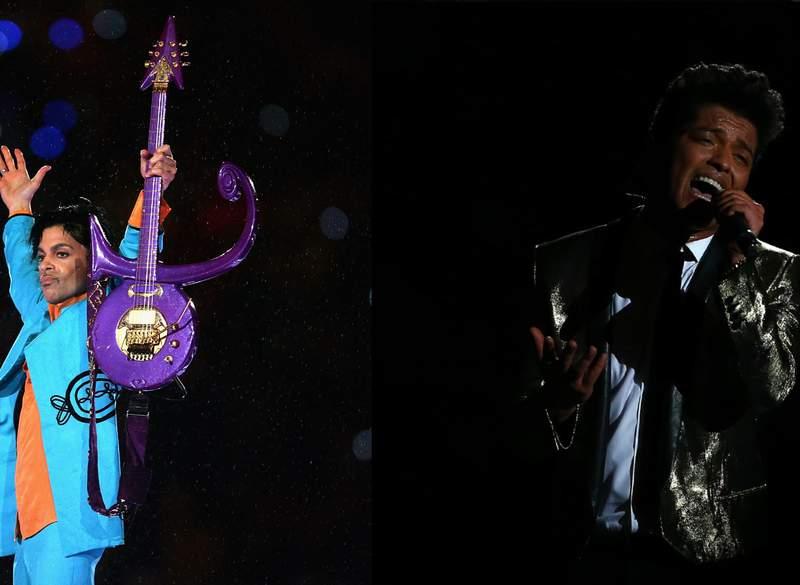 It's Prince vs. Bruno Mars.