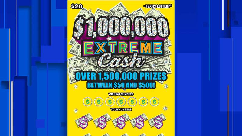 $1,000,000 Extreme Cash lottery ticket