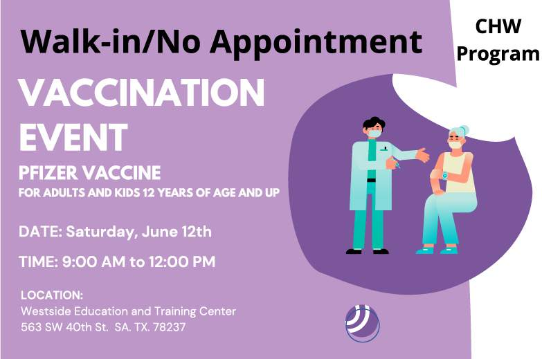 No appointment needed for COVID-19 vaccine event at Westside Education and Training Center next weekend