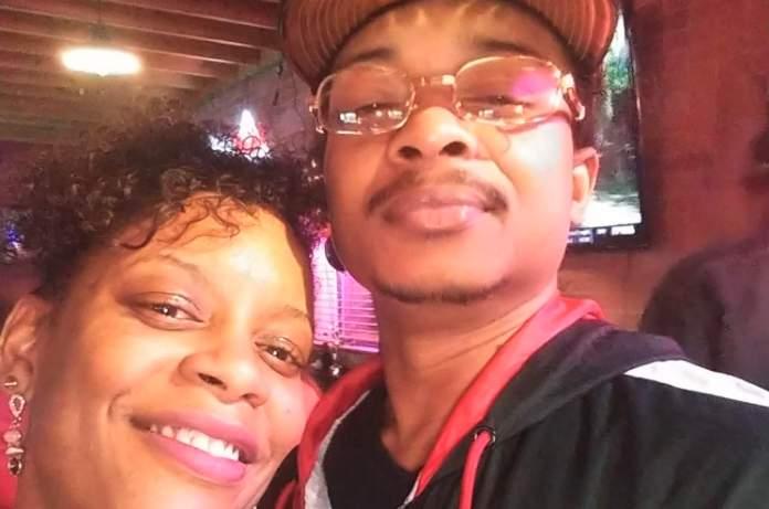 In this September 2019 selfie photo taken in Evanston, Ill., Adria-Joi Watkins poses with her second cousin Jacob Blake. (Courtesy Adria-Joi Watkins via AP)