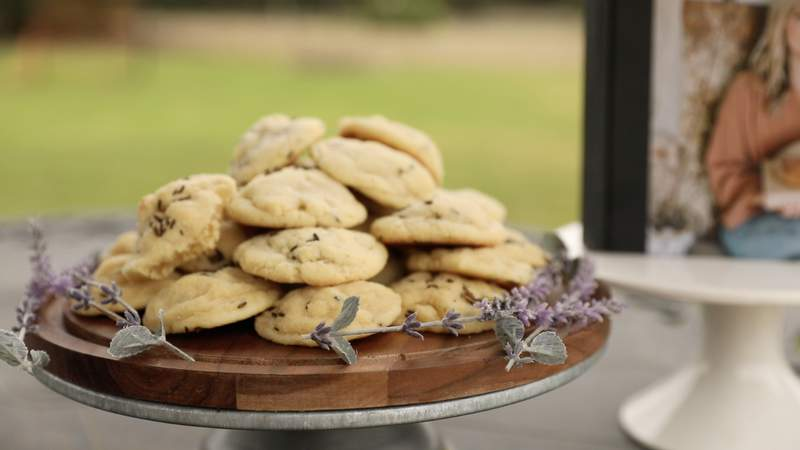 "Try these lavender cookies from ""The Food Nanny"""