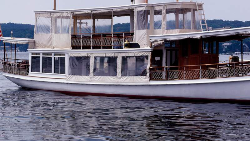 A generic photo of a boat on Lake Geneva in Wisconsin. Photo by Carol M. Highsmith/Buyenlarge
