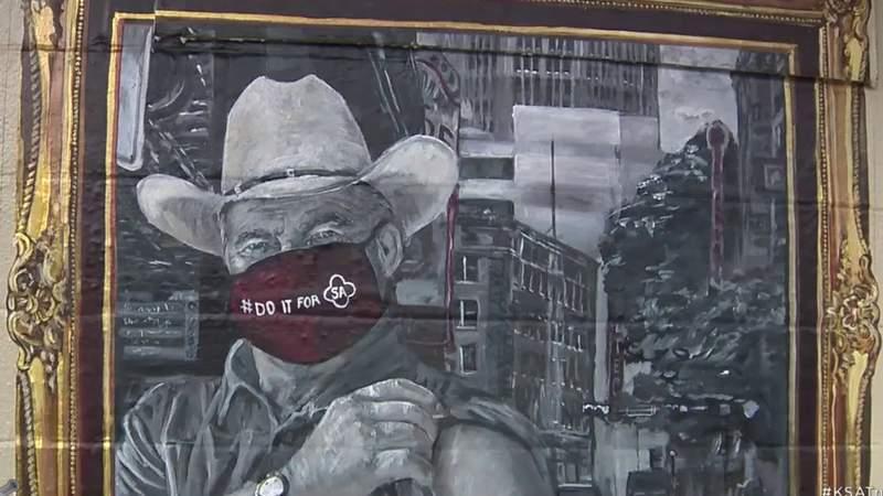 Bike ride across San Antonio stops at murals aimed to promote COVID-19 vaccine awareness