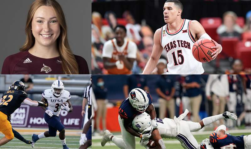 (Image of Jillian Slaughter from Texas State athletics website. All other images courtesy AP Images.)