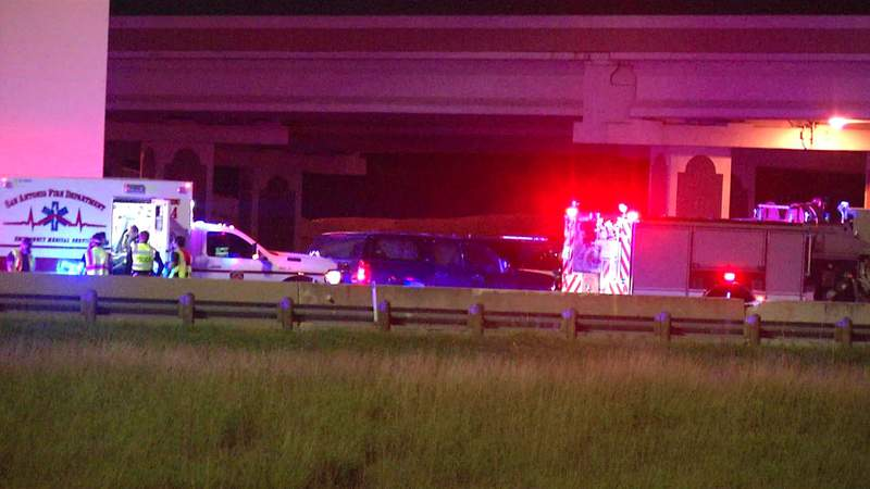 Image of SW Loop 410 officer-involved collision.