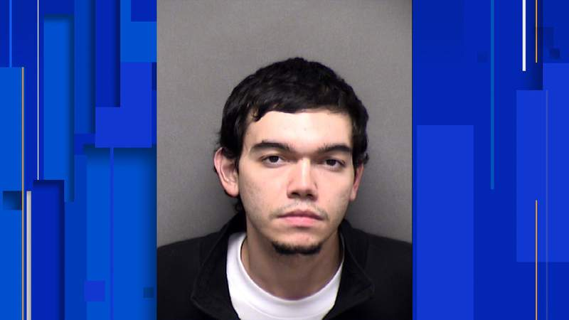Deandre Aleksander Rangel, 22, has been charged with robbery, according to an arrest affidavit.