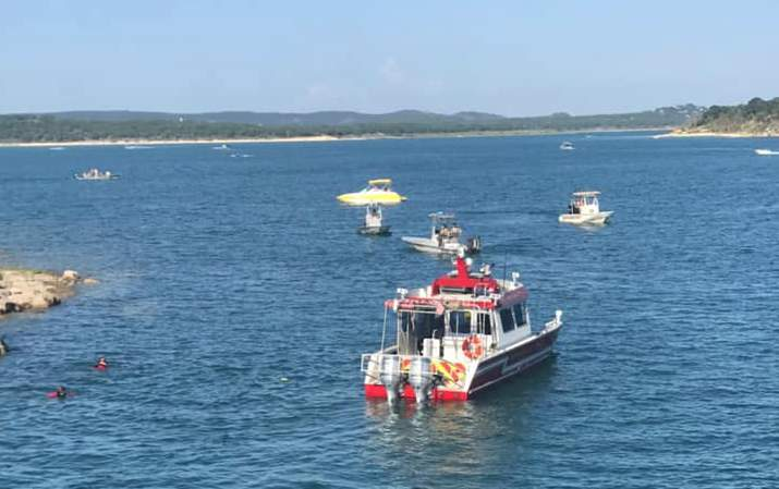 Comal County authorities search for a missing man in Canyon Lake on Sunday, June 13, 2021. Image: Comal County ESD No. 3 (Canyon Lake Fire / EMS)