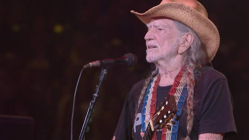 Willie Nelson performs at the Houston Livestock Show and Rodeo on March 4, 2020.