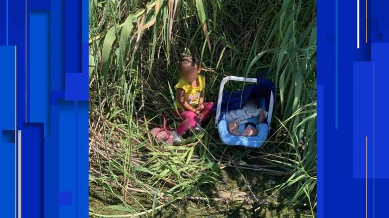 Two Honduran children were found by U.S. Border Patrol agents near Eagle Pass on Sept. 14, 2021.