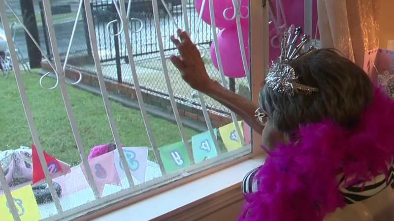 Dozens of community members gather to celebrate 106-year-old San Antonio woman's birthday