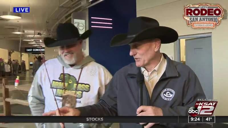 David Sears goes fishing at the rodeo