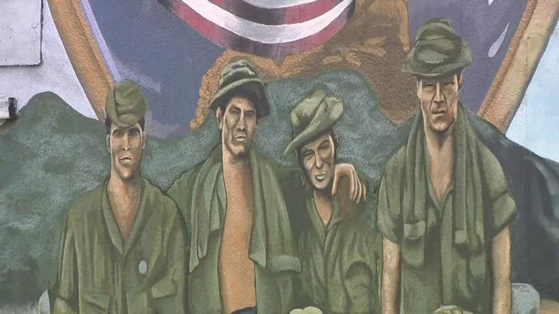 'If These Walls Could Talk': Mural depicting local man's Vietnam story has become Mecca for vets