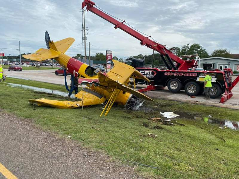 A small plane crashed in Winnie following the city's Rice Festival Parade Saturday morning, according to the Chambers County Sheriff's Office.