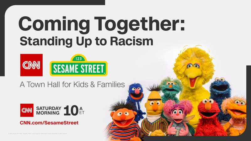 """CNN and """"Sesame Street"""" are refocusing their second town hall to address racism with a 60-minute special called """"Coming Together: Standing Up to Racism. A CNN/Sesame Street Town Hall for Kids and Families."""""""
