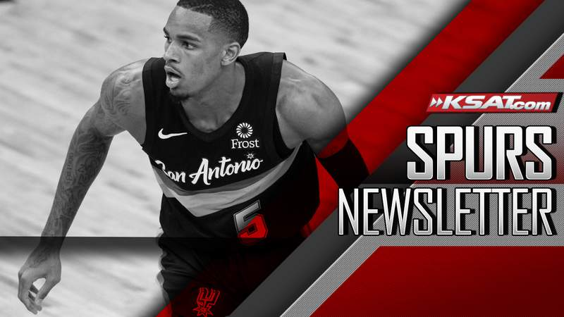 (Dejounte Murray image for San Antonio Spurs Newsletter.