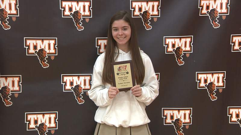 Sydney Serratos of T.M.I. Episcopal is selected as Instant Replay's Scholar Athlete of the Week for Sunday, May 16, 2021.