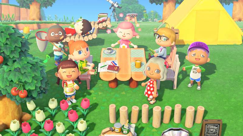 The video game Animal Crossing enables kids to engage in open-ended play. Characters can fish, catch bugs and fossil hunt.