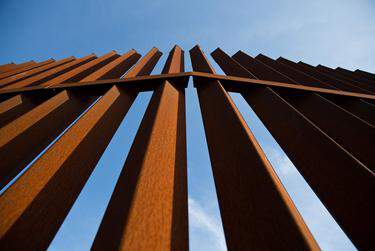 A section of the border fence in the Rio Grande Valley.      Callie Richmond for The Texas Tribune