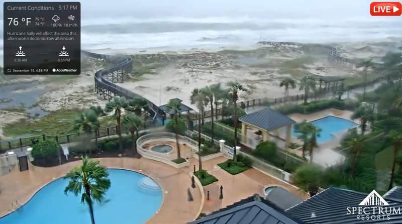 Hurricane Sally approaches the Northern Gulf Coast.