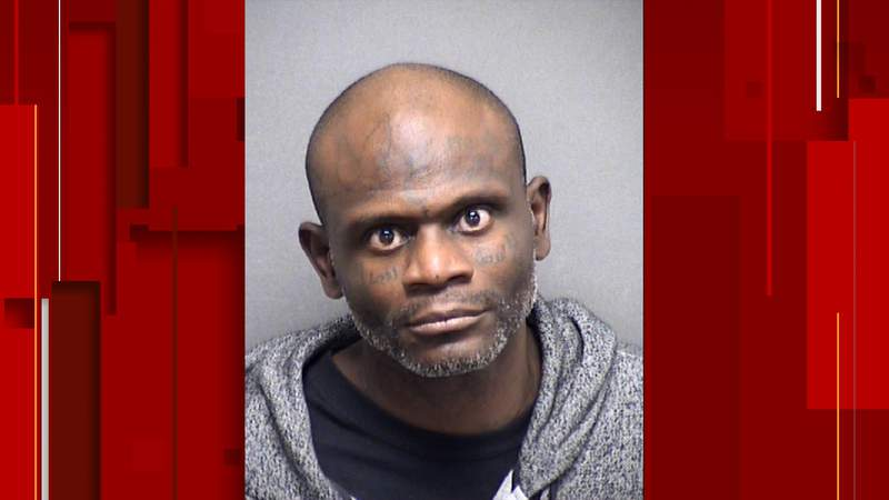 Booking records with the Bexar County Jail show Clyde Anthony Poindexter, 42, was arrested on a murder charge. Image: Bexar County Jail