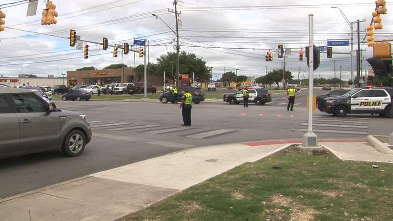 According to San Antonio police, a man was walking across Marbach Road when the driver of a pickup traveling on Marbach turned onto Horal and apparently didn't see the pedestrian and struck him.