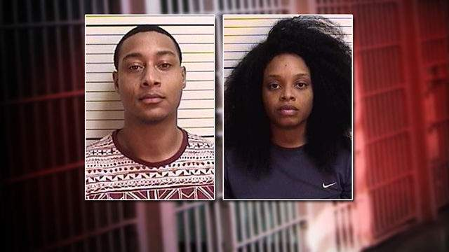 Booking photos of Jonathan Harrell, 24, and Latoya Harrell, 23