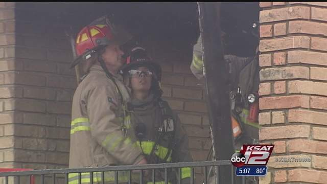A fast moving fire damaged an apartment and injured a firefighter Saturday morning.